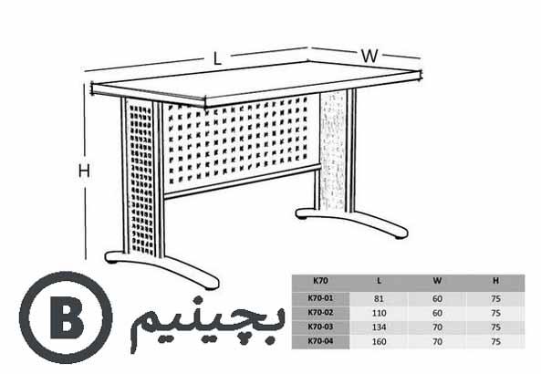 میز کامپیوتر مدرن پایه فلزی