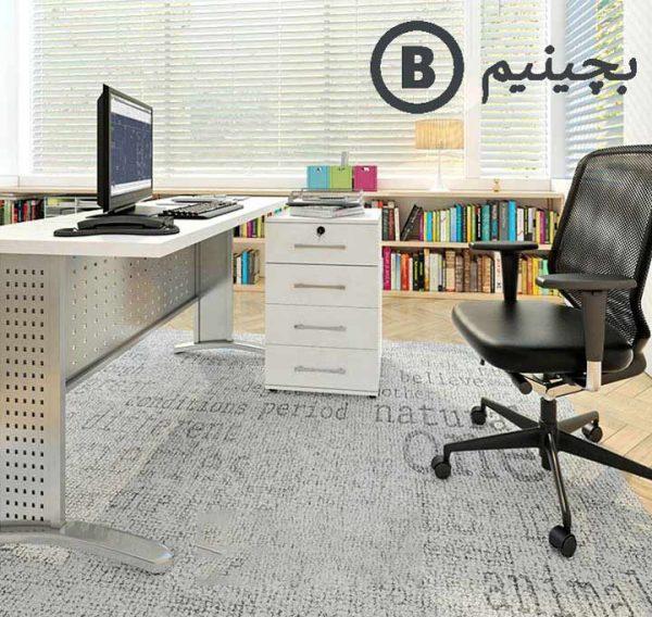 میز کامپیوتر با پایه فلز