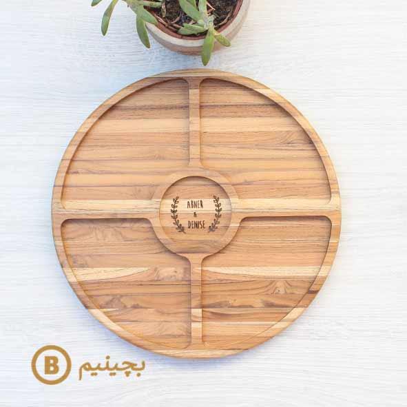 ظرف سرو بامبوم مدل دایره (ظرف چوبی)