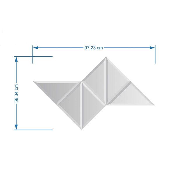 آینه دکوراتیو 6 تکه مثلثی